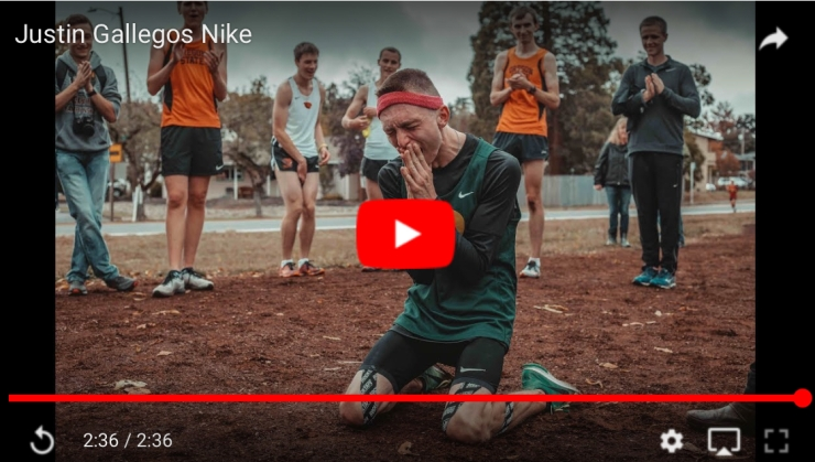 Student with Cerebral Palsy hearing news signed by Nike